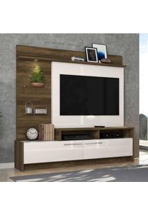 Estante Para Tv Ipanema Até 60 Polegadas Canela Rúsico/Off White - Colibri Móveis