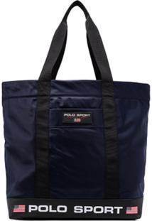Polo Ralph Lauren Bolsa Tiracolo Com Estampa De Logo - Azul