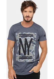 Camiseta Yellowl Ny Camuflada Masculina - Masculino