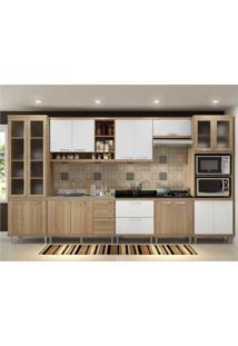 Cozinha Completa Multimã³Veis Com 8 Peã§As SicãLia 5806 Argila/Branco - Incolor/Marrom - Dafiti