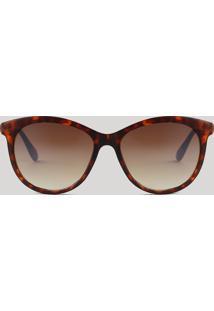 Óculos De Sol Redondo Feminino Oneself Tartaruga