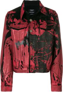Calvin Klein 205W39Nyc Jaqueta Jeans Estampada - Vermelho