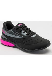 Tênis Fila Sportflag Feminino - Feminino-Preto+Pink