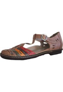 Sapato J. Gean Retrô Vintage Sapatilha Couro Fascite Plantar Joanete