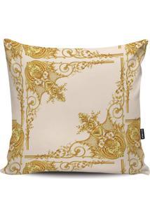 Capa Para Almofada Arabescos- Branca & Dourada- 45X4Stm Home
