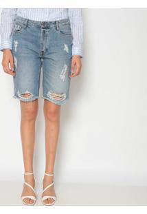 Bermuda Jeans Destroyed - Azuldudalina