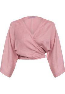Blusa Feminina Amarração - Rosa
