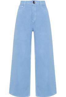Calça Feminina Sarja Pantacourt - Azul