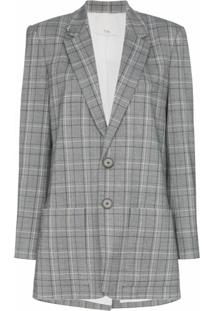 Tibi Blazer James Xadrez - Estampado