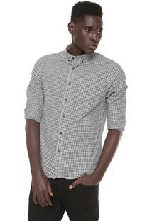 Camisa Hering Reta Vichy Preta/Branco