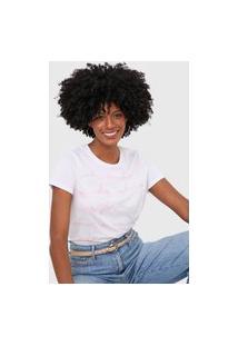 Camiseta Lez A Lez Lettering Branca/Rosa