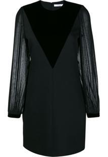 Givenchy Vestido Com Recorte De Veludo - Preto