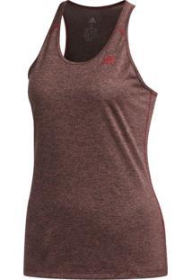 Camisetas Regatas Fitness E Funcional Adidas 3 Stripes Bordô