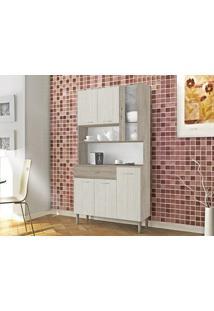 Cozinha 6 Portas Golden Arena/Nogal - Lc Móveis