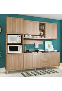 Cozinha Compacta Sem Tampo 6 Peças 5814-S8 Sicília - Multimóveis - Argila Acetinado