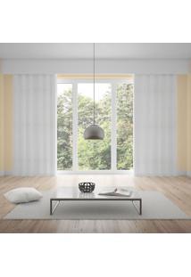 Cortina Duplex Padua 3,00X1,70M Quarto E Sala Branco Branco
