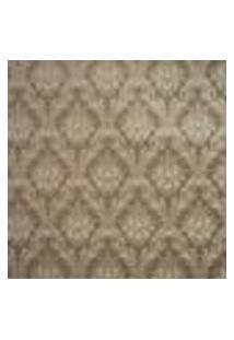 Papel De Parede Importado Vinilico Lavavel 53Cm X 10M Marrom Escuro Com Arabescos Dourado