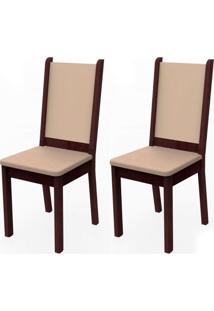 Kit 2 Cadeiras Tabaco Crema E Pérola Madesa4281