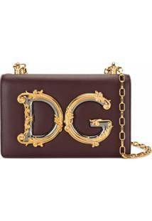 Dolce & Gabbana Bolsa Tiracolo Com Aplicação Dg - Roxo