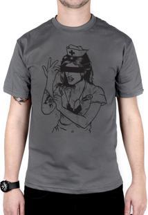 Camiseta 182Life Enema Girl Chumbo