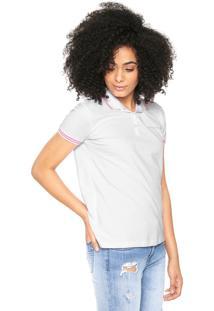 Camisa Polo Calvin Klein Jeans Logo Branco