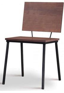 Cadeira Preciosa Castanho Base Preta - 50731 - Sun House