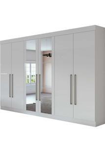 Guarda Roupa Casal Com Espelho 6 Portas 4 Gavetas Com Kit Gavetas Castellaro Branco - Branco - Dafiti