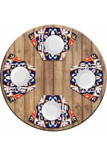 Jogo Americano Love Decor Para Mesa Redonda Wevans Mandala Colorida Kit Com 4 Pçs - Kanui