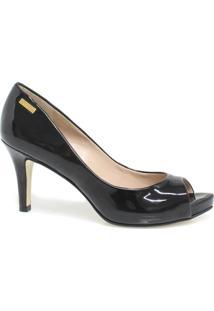 25f62b75591 Sapato Dumond Peep Toe Salto - Feminino