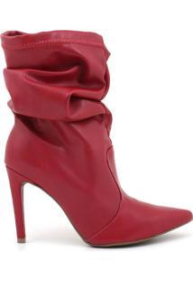Bota Feminino Milano Napa Blush Scarlet 9770