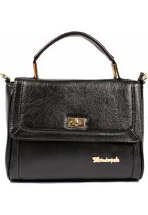 Bolsa Dalber Couro Minibag - Feminino-Preto