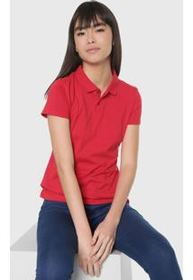 Camisa Polo Malwee Reta Lisa Vermelha