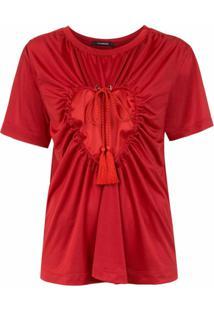 À La Garçonne Blusa 'Colissé Coração' - Vermelho