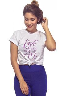 Camiseta Feminina Joss Love Is In The Air Branco