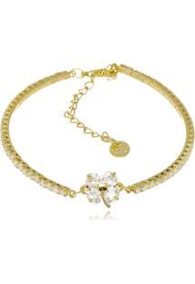 Bracelete Rincawesky Veneza Trevo Dourado