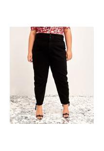 Calça Jeans Marmoriza Clochard Curve E Plus Size Azul