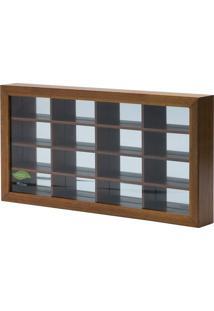 Quadro Espelhado Para 16 Carrinhos 45,5X23,5X5,5 - Woodart - Marrom