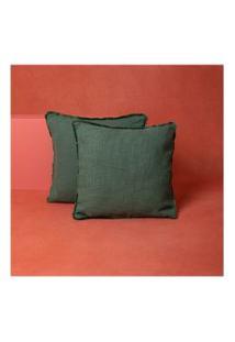 Capa De Almofada Liu 45X45 Cor: Verde - Tamanho: Único