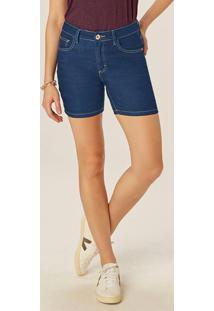 Bermuda Azul Escuro Comfort Jeans