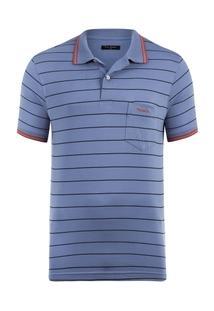 Camisa Polo Pierre Cardin Monaco Com Bolso Masculina - Masculino
