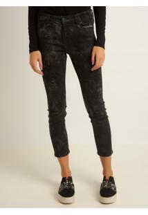 Calça Le Lis Blanc Gisele Rocker Jeans Preto Feminina (Jeans Black Medio, 48)