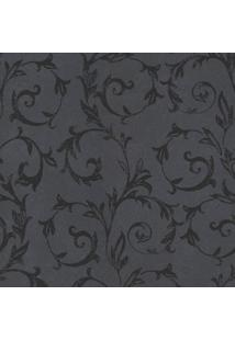 Papel De Parede Floral- Cinza & Preto- 100X52Cm-Shark Metais