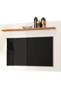 Painel Para Tv Até 65 Polegadas 160Cm Sala De Estar Win New Off White/Coral - Frade Movelaria