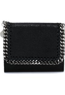 Stella Mccartney Carteira Mini Modelo 'Falabella' - Preto