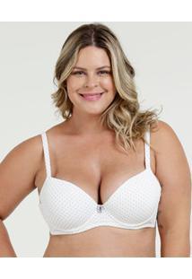 Sutiã Feminino Com Base Bolinhas Plus Size Marisa