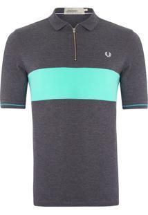 Camisa Textured Panel - Cinza