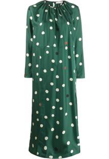 Chinti & Parker Vestido Longo Com Poás - Verde