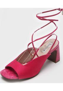 Sandã¡Lia Bebec㪠Amarraã§Ã£O Pink - Pink - Feminino - Tãªxtil - Dafiti