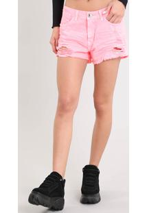 fb7d435cb CEA. Short De Sarja Feminino Boyfriend Destroyed ...