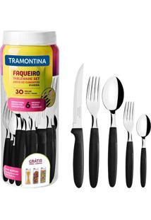 Faqueiro Ipanema Tramontina, 30 Peças, Preto - 23398/088